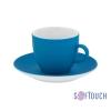 """Чайная пара с покрытием soft touch """"Манящее прикосновение"""", синяя"""
