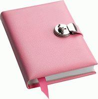 Записная книжка Pink с замочком, розовая