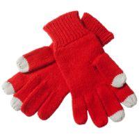 Перчатки сенсорные, полушерстяные, красные