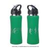 """Бутылка спортивная """"Индиана"""" с покрытием soft touch, зеленая"""